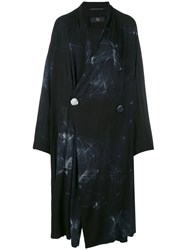 Y's Tie Dye Coat Women Rayon 2 Black