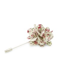 Penguin Floral Lapel Pin Red