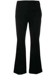 Les Copains Cropped Length Trousers Black