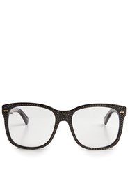 Gucci Embellished D Frame Glasses Black