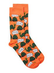 Topman Orange Turtley Amazing Socks