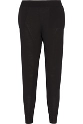 Stella Mccartney Wool Track Pants Black