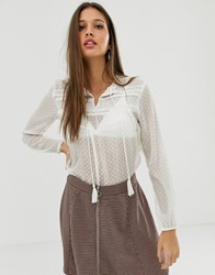 Jdy Lace Blouse In White