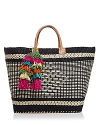 Mar Y Sol Ibiza Tote Black Multi