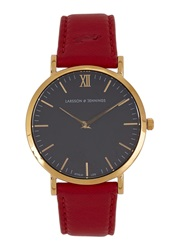 Larsson And Jennings Lader Gold Plated Watch Red