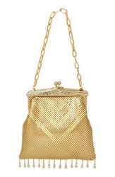 Whiting And Davis 'Heritage Deco' Mesh Handbag Metallic Gold