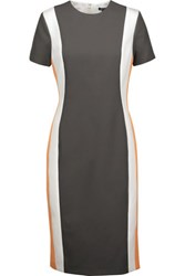 Raoul Altair Color Block Twill Dress Gray