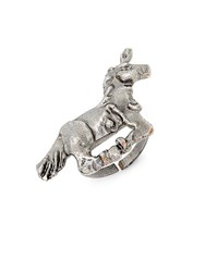 Valentino Unicorn Statement Ring Gunmetal