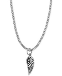 King Baby Studio Pave Wing 18 Pendant Necklace In Sterling Silver