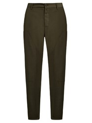 Oamc Modified Tapered Leg Twill Trousers Green