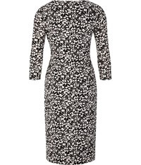 Austin Reed Stone And Black Dash Print Dress