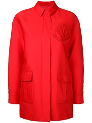 Moncler Gamme Rouge Single Breasted Coat Red