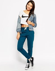 Asos Lightweight Joggers With Contrast Tie Teal