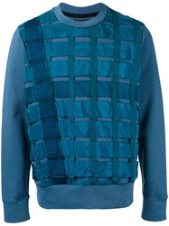 Christopher Raeburn 'Remade Airbrake' Sweatshirt Blue