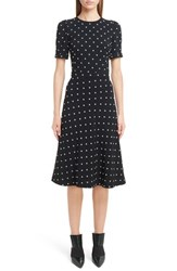 Givenchy Women's Faux Pearl Embellished Lily Print Dress