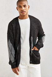 Urban Outfitters Uo Grandpa Textured Cardigan Charcoal