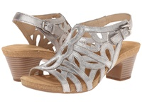 Josef Seibel Ruth 03 Cristal Antik Metallic Women's Dress Sandals Silver
