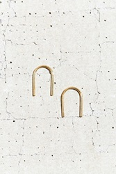 Urban Renewal Tiny Armour Short Arc Earring Gold
