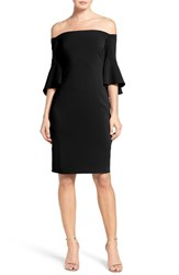 Laundry By Shelli Segal Women's Off The Shoulder Crepe Sheath Dress