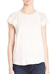 Rebecca Taylor Knitted Silk Top Snow