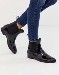 London Rebel Chelsea Wellie Boots Black