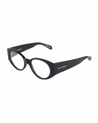 Alexander Mcqueen Men's Oval Fashion Glasses Black
