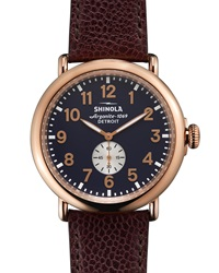 47Mm Runwell Leather Watch Shinola