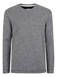 Topman Selected Homme Black And White Woven Long Sleeve T Shirt