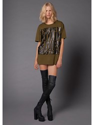 House Of Holland 10Th Anniversary Rousteing T Shirt Green