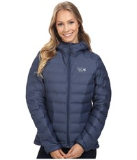 Mountain Hardwear Stretchdown Hooded Jacket Zinc Women's Coat Blue