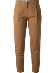 Erika Cavallini Semi Couture 'Andrea' Cropped Trousers Brown
