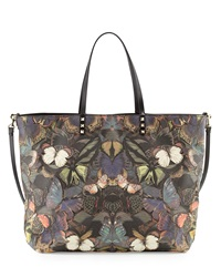Valentino Patchwork Butterfly Easy Tote Bag Multi