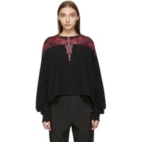 Marcelo Burlon County Of Milan Black And Red Wings T Shirt