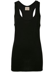 Laneus Long Sleeveless Tank Top Black