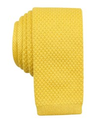 Original Penguin Knit Solid Tie Yellow