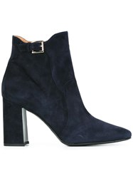 Fratelli Rossetti Round Toe Ankle Boots Blue