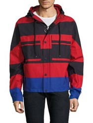 Hilfiger Edition Colorblock Cropped Parka Red Navy