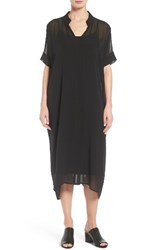 Eileen Fisher Women's Sheer Silk Georgette Shift Dress