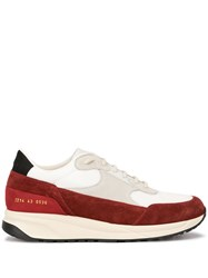 Common Projects Two Tone Lace Up Sneakers White
