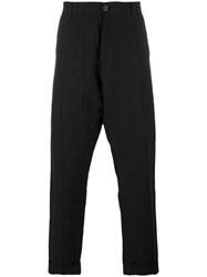 Isabel Benenato Hand Painted Trousers Black