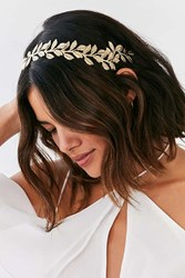 Urban Outfitters Leaves Halo Headband Gold