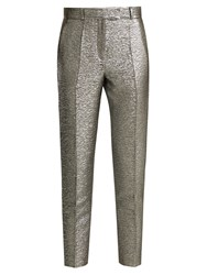 Racil Aries High Rise Matelasse Cropped Trousers Silver