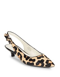 Anne Klein Expert Calf Hair Slingback Pumps Leopard