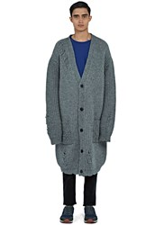 J.W.Anderson Mid Length Oversized Laddered Cardigan Grey