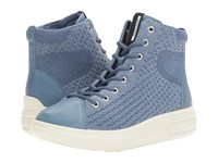 Ecco Soft 3 High Top Retro Blue Retro Blue Women's Lace Up Boots