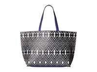 Echo Ikat Essex Reversible Tote Black Dazzling Blue Tote Handbags