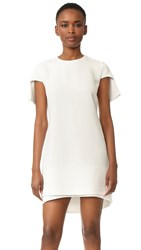 Brandon Maxwell Cap Sleeve Mini Dress White