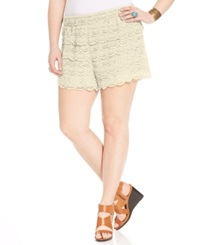 American Rag Plus Size Crochet Shorts