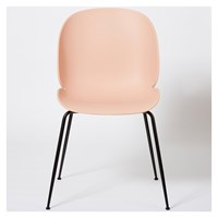 Gubi Beetle Dining Chair Un Upholstered Sweet Pink And Black