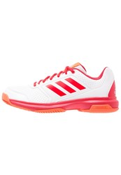 Adidas Performance Adizero Attack Outdoor Tennis Shoes White Ray Red Silver Metallic